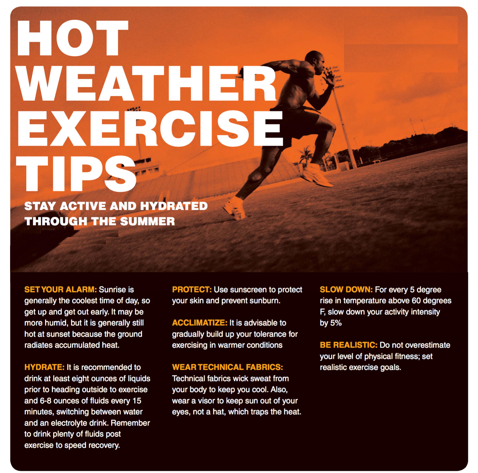 b0d8bd451598 Hot Weather Exercise Tips - Agape